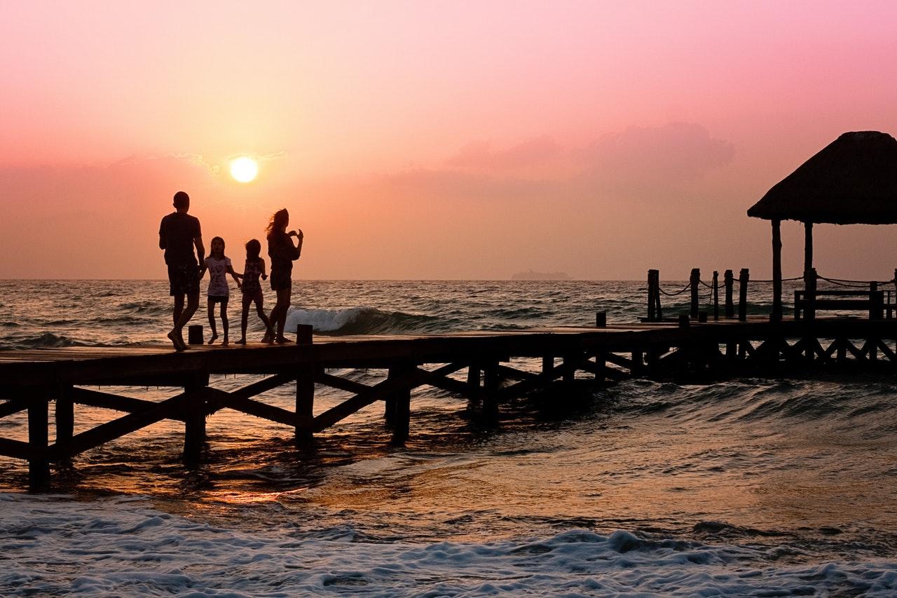 family vacation on seashore